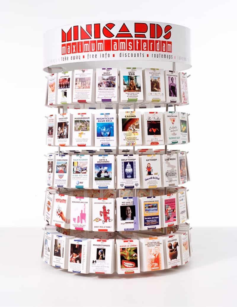 Asztali Minicards tartó