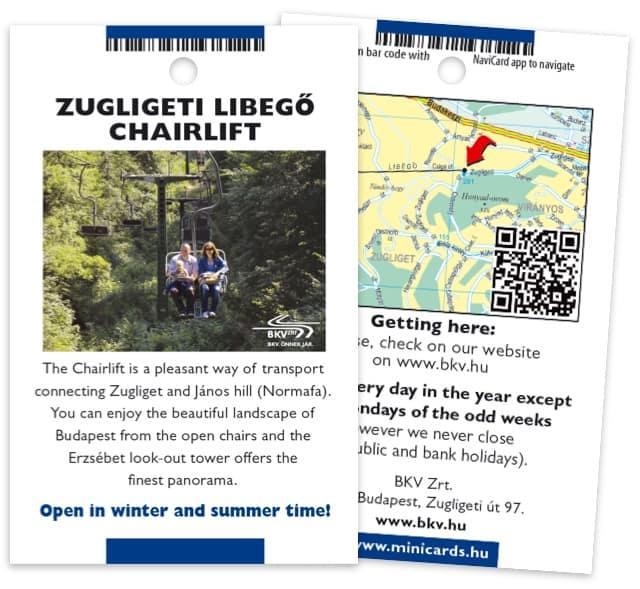 Zugligeti Libegő minicard