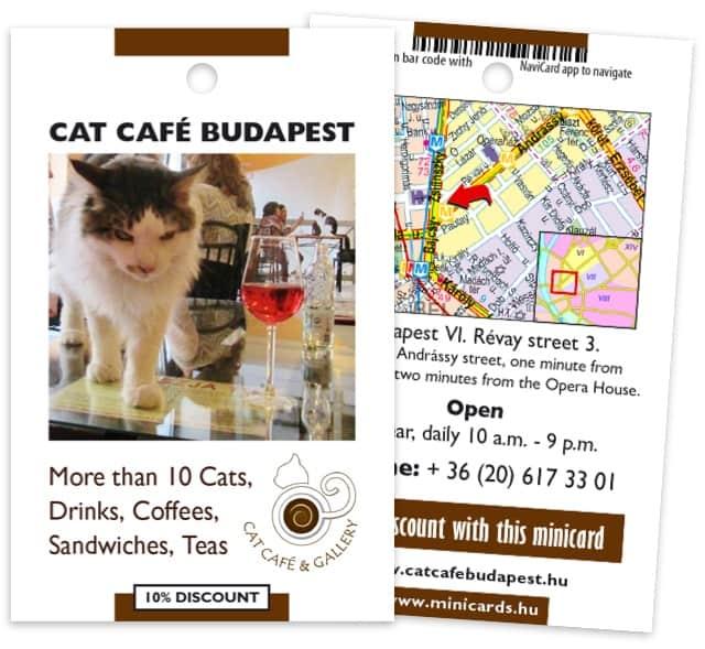 Cat Café Budapest minicard