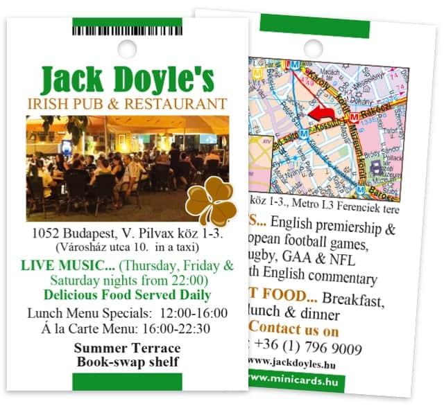 Jack Doyle's Irish Pub minicard