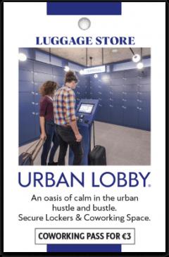 Urban Lobby kártya eleje
