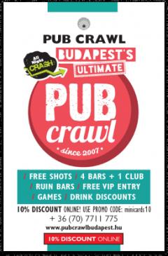 All Night Crash – Pub Crawl card front