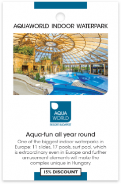 Aquaworld kártya eleje