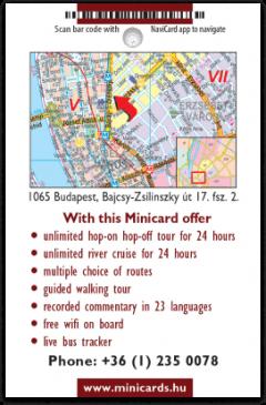 Big Bus Budapest card back