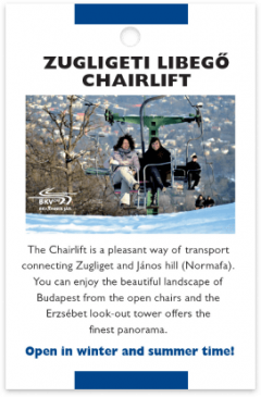 Zugliget Chairlift card front