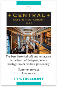 Central Cafe and Restaurant card front