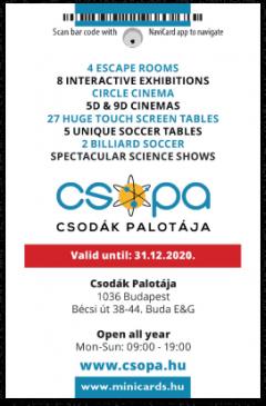 Csopa Science Scenter card back