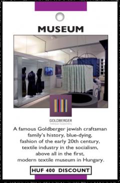 Goldberger Museum card front