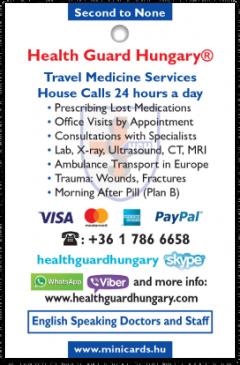 Health Guard Hungary kártya háta