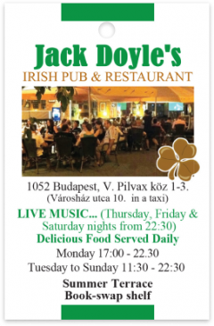 Jack Doyle's Restaurant and Pub card front