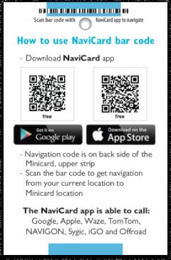 NaviCard card back