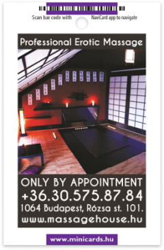 Massage House card back