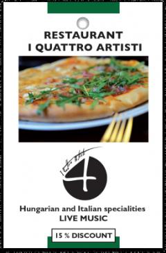 Restaurant I Quattro Artisti card front