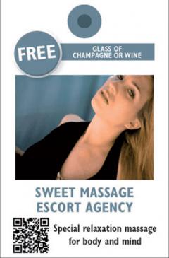 Sweet Massage kártya eleje