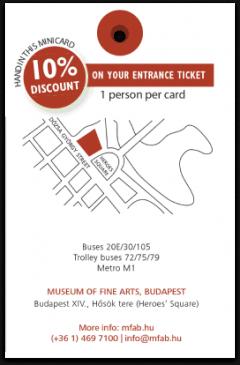 Szépművészeti Múzeum kártya háta