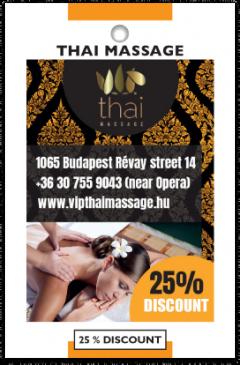 VIP Thai Massage card front