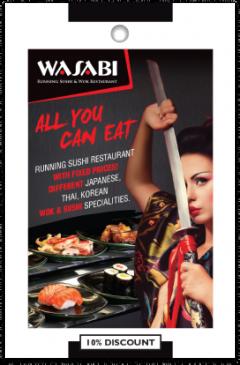 Wasabi Restaurant card front