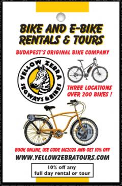 Yellow Zebra Bike Tours card front