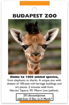 Zoo Budapest card front